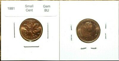 Canada 1981 Small Cent GEM BU UNC Red!!