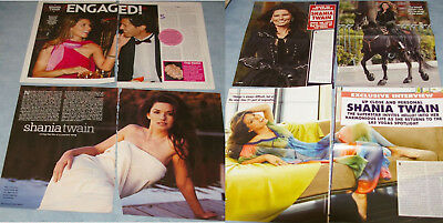 SHANIA TWAIN 148x Clippings Covers + Stamp Booklet (no stamps)