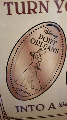 Disney World Pressed Smashed Elongated Penny Tiana holding Frog Port Orleans P10