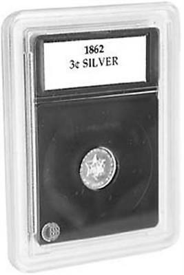Coin World Premier Holders 14 mm For Three Cent Silver Coins 3 Slabs + Inserts