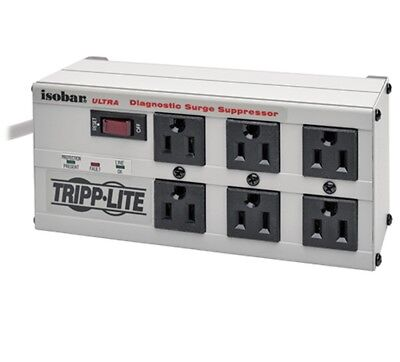Tripp Lite ISOBAR 6 Ultra Outlet Surge Protect Power Strip 3300 6ftCord WARRANTY