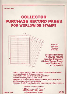 HARRIS STAMP ALBUM Pages World Purchase Records For Worldwide Track Purchase