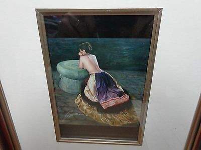 Jia Lu (Bronze Drum )Hand Signed Color Print 14X16 Size Professionally Framed!