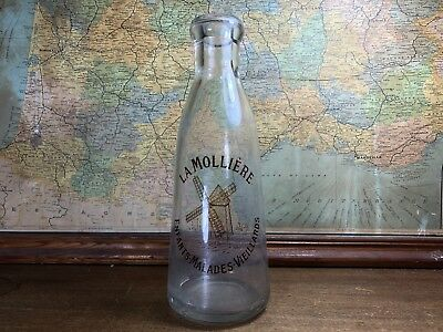 Vintage Original French Milk Bottle