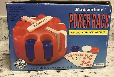 Budweiser Poker Rack with Interlocking Chips