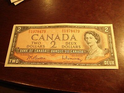 BIRTH YEAR - 1954 Canadian $2 bill - OU1978479 - two dollar note Canada - 1978