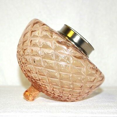 French External Quilted Pink Champagne Kerosene Oil Lamp Font Fount