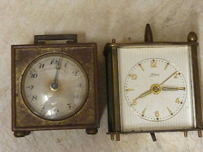 2 SMALL OLD CLOCKS - SPARES or REPAIR