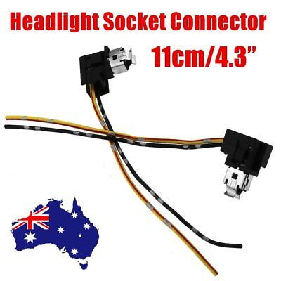 2 X H1 Headlight Fog Lamp Bulb Extension Socket Holder Wiring Connector Plug 12V