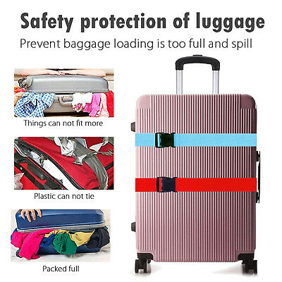 Travel Safty Luggage Packing Suitcase Strap Baggage Backpack Bag Strap Belt US