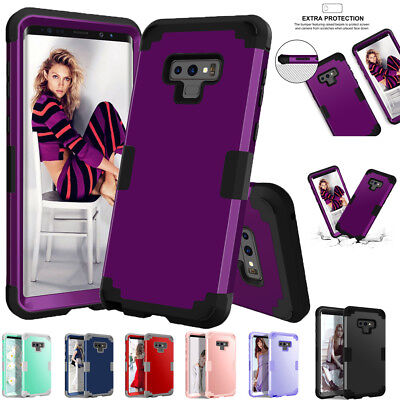 For Samsung Galaxy Note 9 S9 Plus Shockproof Rugged Rubber Full Body Case Cover