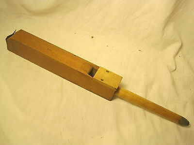 vintage whistle F organ tuning antique ? long wooden wood metal end old whistler