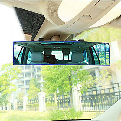 300mm Panoramic Curve Convex Interior Clip On Rear View Mirror Safety Durable