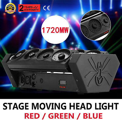 Laser Spider Moving Head Light 180°Rotatable Party Lamp Dj Club Spinne Licht
