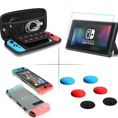 Soft Carrying TPU Case Bag &Tempered Glass Screen Protector For Nintendo Switch