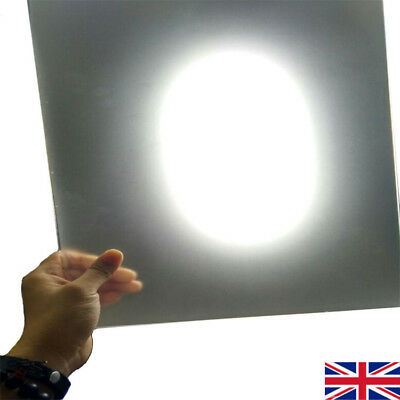 2mm Transmitting Frosted Acrylic Board PMMA Plexiglass Square Sheet 10-40cm UK
