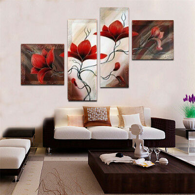 Handpainted Modern Flowers Abstract oil painting On Canvas Wall Art Home Decor