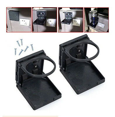 2PCS Universal Folding Cup Holders Beverage Drinking For Car Truck VAN Boat