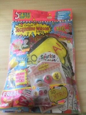 The Official Jacqueline Wilson Mag Magazine #134  SPARKLE LACES / PENCILS NEW