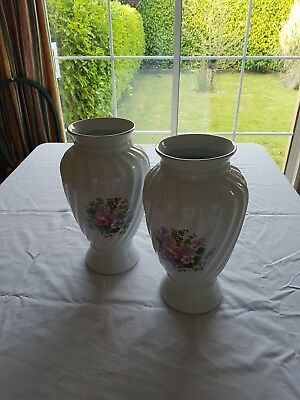 Pair of large, coloured,  baluster shaped Pottery Vases