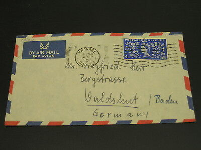 UK 1953 airmail cover to Germany *3226