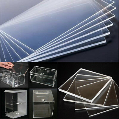 High Transparency Clear Acrylic Plate Plexiglass Sheet 10-40cm Thick 2-5mm UK