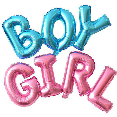 Letter Boy/Girl Foil Balloon Gender Reveal Baby Shower Birthday Party Decoration