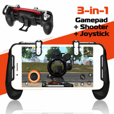 Mobile Game Gamepad Joystick Controller Trigger Fire Button For PUBG FORTNITE AU