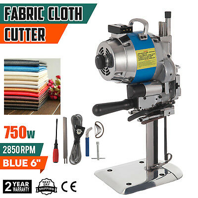 "Fabric Cloth Cutter Blue 6"" Cutting Machine Auto Sharpening Wool Auto Grind"