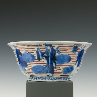 Nice Imari bowl, figures, Japan, late 19th century.