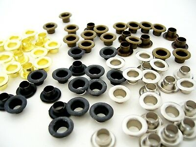 4 mm Rustproof Eyelets for Leather Craft Grommet Banner Various colours  #2