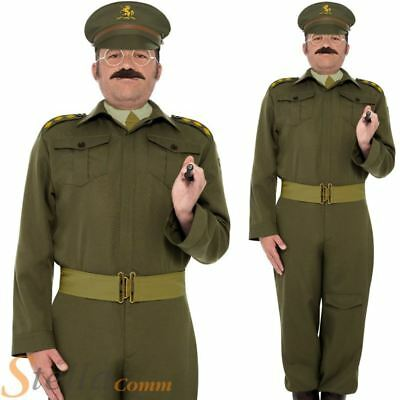 Mens Home Guard Captain Dads Army War Fancy Dress Costume WW2 30s 40s Soldier