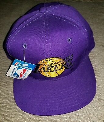 90s Vintage L.A. Lakers Snapback Hat. Twins Enterprise. VTG. Los Angeles.  NEW af0bcf2f9742