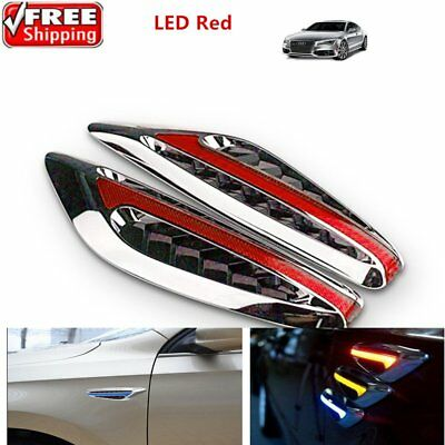 2X Universal Red Car Steering Light Auto Led Turn Signal Fender Side XP