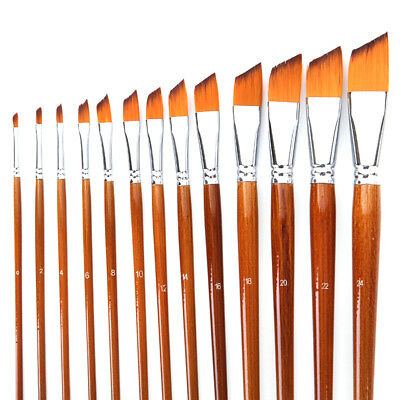 NEW 13 Paint Brush Set for Oil Watercolor Acrylic Artist Painting Art Craft