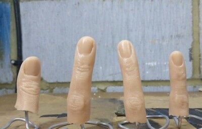 Unpainted Severed Silicone Finger Prop - Realistic -  Halloween - FX Movie Prop