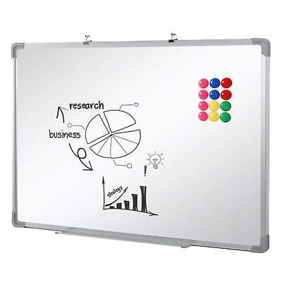 Magnetic Whiteboard Dry Wipe White Notice Board Memo Office Meeting School Home