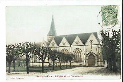 CPA-Carte postale-FRANCE-Neuilly-Saint-Front - Son Eglise -1905- S1581