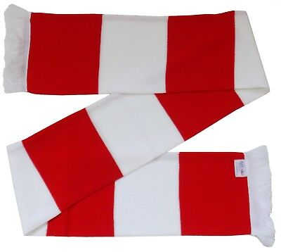 Red and White Retro Bar Scarf  - Made in the UK