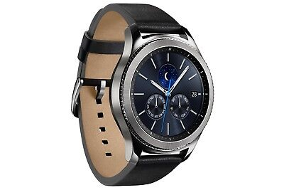 Samsung Galaxy Gear S3 Classic Stainless Steel Leather Band SM-R775V VERIZON LTE