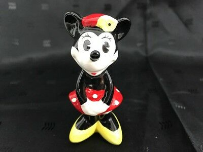 DISNEY Minnie Mouse Wearing Tam Hat Collectible Porcelain Figurine RARE