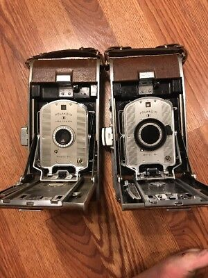 Lot of 2 Vintage Polaroid 95b Land Camera with Original Carrying Case Wink Light