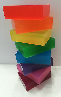 2KG Melt  Pour Soap Base Coloured Soap Making Bars Easy to make kids TRANSPARENT