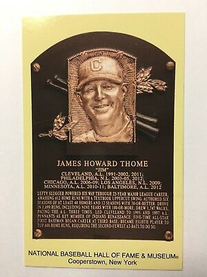 JIM THOME -Baseball Hall of Fame- INDUCTION Plaque Postcard- 2018