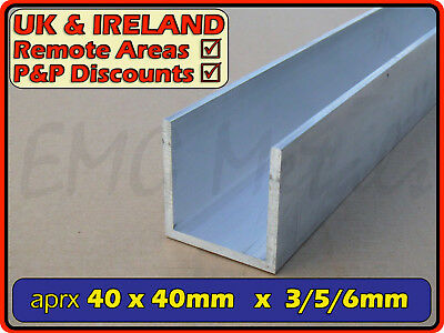 Aluminium Channel (C U section, gutter, profile,alloy)| 38x38 mm