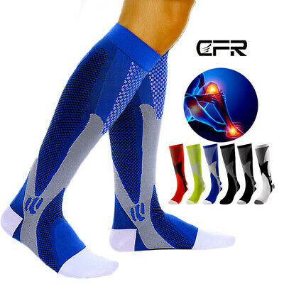 Compression Socks Graduated 20-30mmHg Stockings Athletic Sports Varicose Veins A