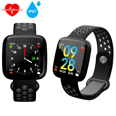 Wasserdicht Bluetooth Fitnesstracker Fitnessuhr Smart Armbanduhr Smartwatch Uhr