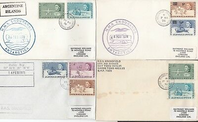 British Antarctic Territory 8 Covers 3 scans