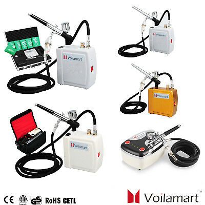 0.3MM Air Brush Airbrush Compressor Kit Dual Action Spray Gun Gravity Needle Art