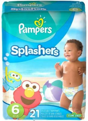Pampers Splashers Disposable Swim Pants Diapers - New - Size 6